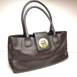 Kate Spade Brown Leather Handbag Purse Bag Medium